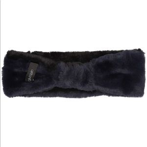 Calvin Klein fur headband